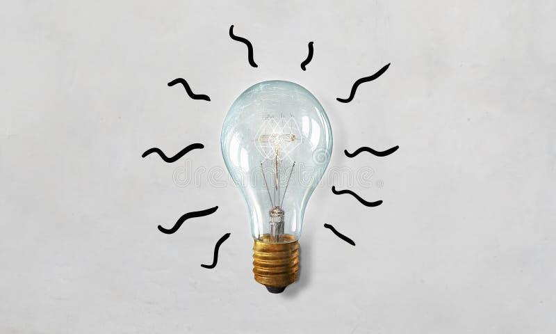 Elektryczna szklana żarówka Mieszani środki zdjęcie stock