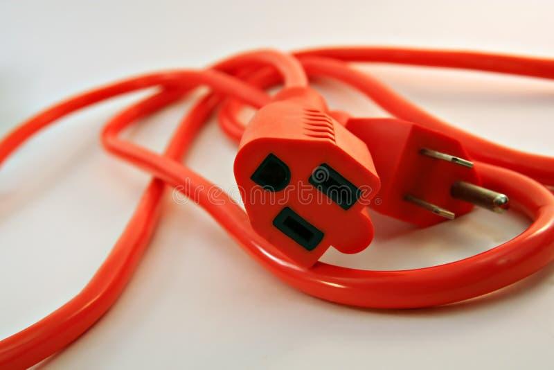 elektryczna sznur pomarańcze zdjęcie stock