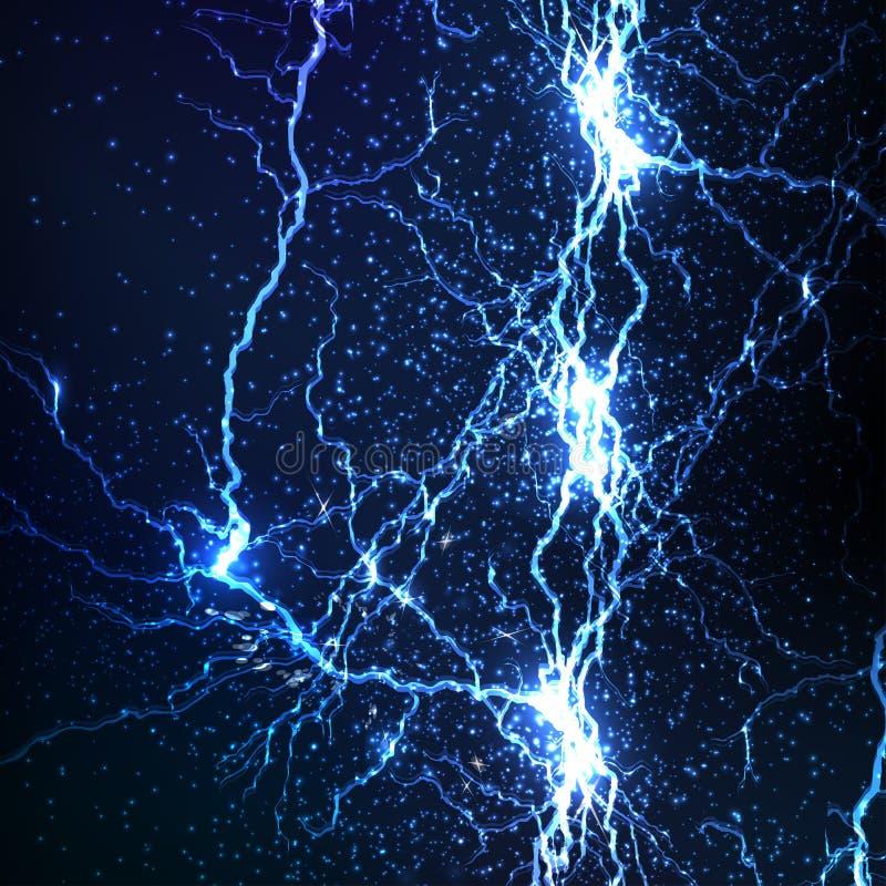 Elektryczne iskry ilustracji