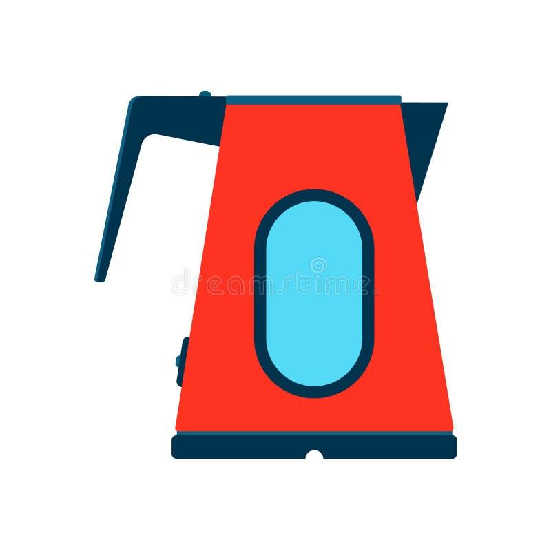 Elektrycznego czajnika przedmiota ikony symbolu wektorowy projekt Grafiki narzędziowy gorący kuchenny naczynie Kreskówki domowego ilustracji