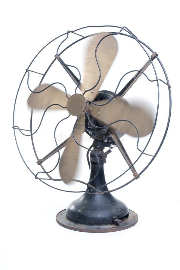elektrycznego fan pochylony widok rocznik obraz stock