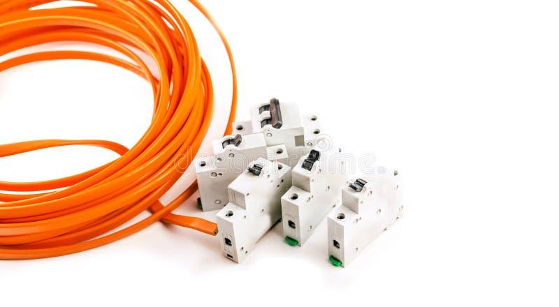 Elektrycznego kabla kolor żółty obrazy royalty free