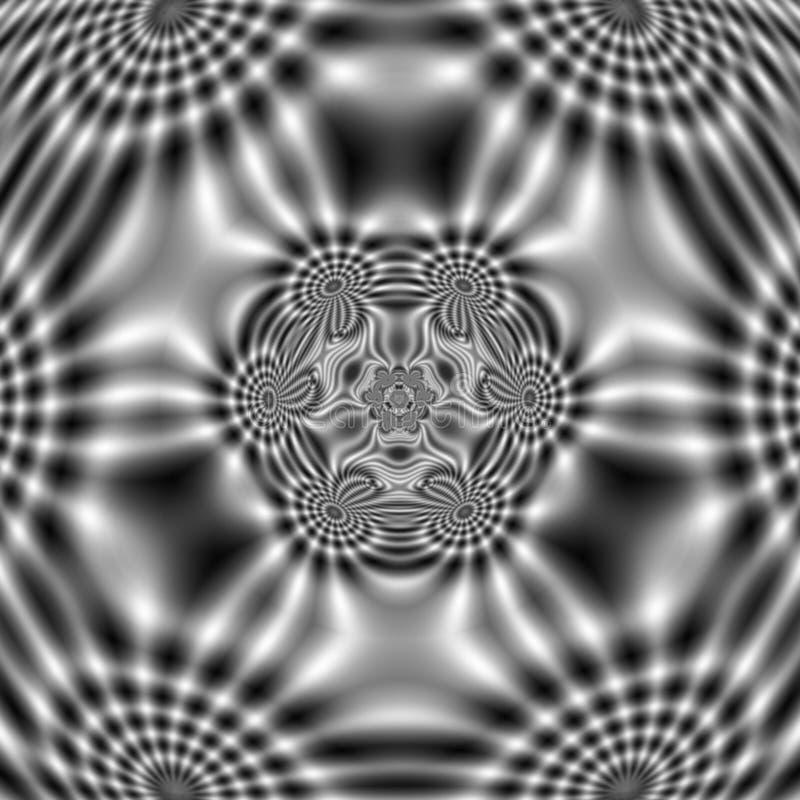 Elektrycznego pola wzór z abstrakcjonistycznymi falistymi kształtami fotografia stock