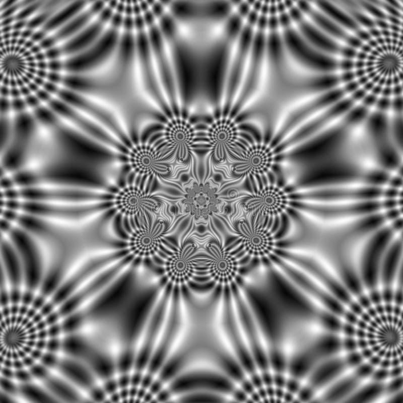 Elektrycznego pola wzór z abstrakcjonistycznymi falistymi kształtami zdjęcie stock