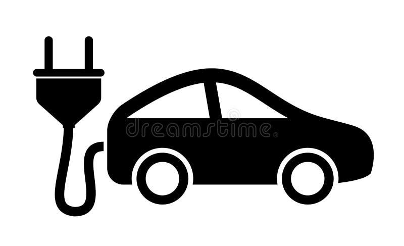 Elektrycznego samochodu ikona royalty ilustracja