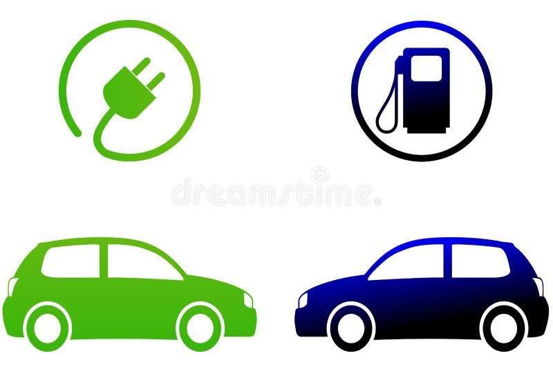 Elektrycznego samochodu pojęcie ilustracji