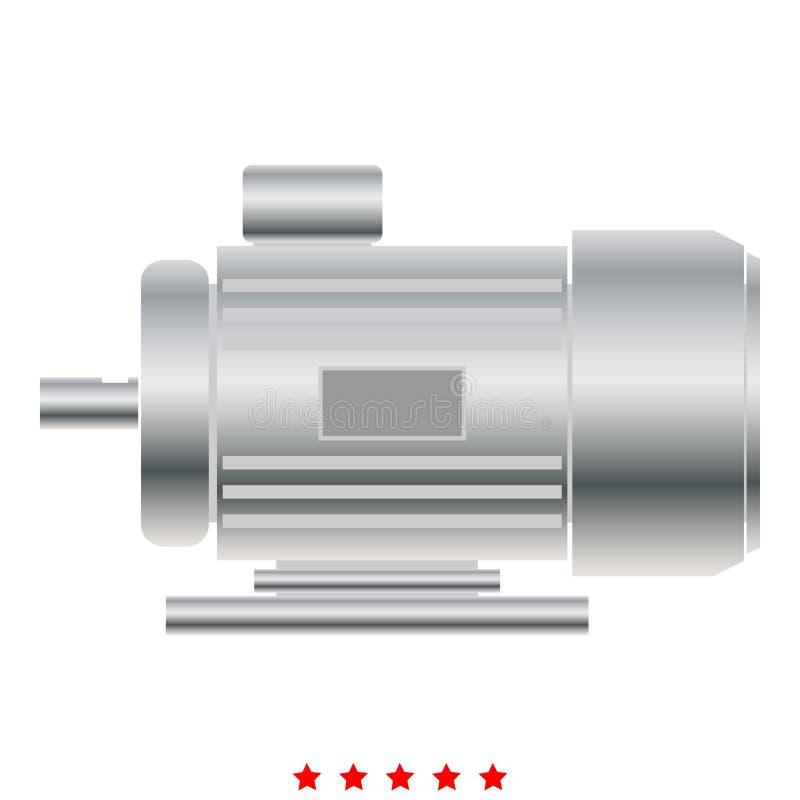 Elektrycznego silnika ikony koloru pełni Ilustracyjny styl ilustracji