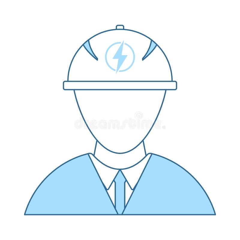 Elektrycznego in?yniera ikona ilustracja wektor