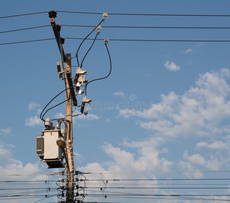 Elektrycznej dystrybuci transformator fotografia royalty free