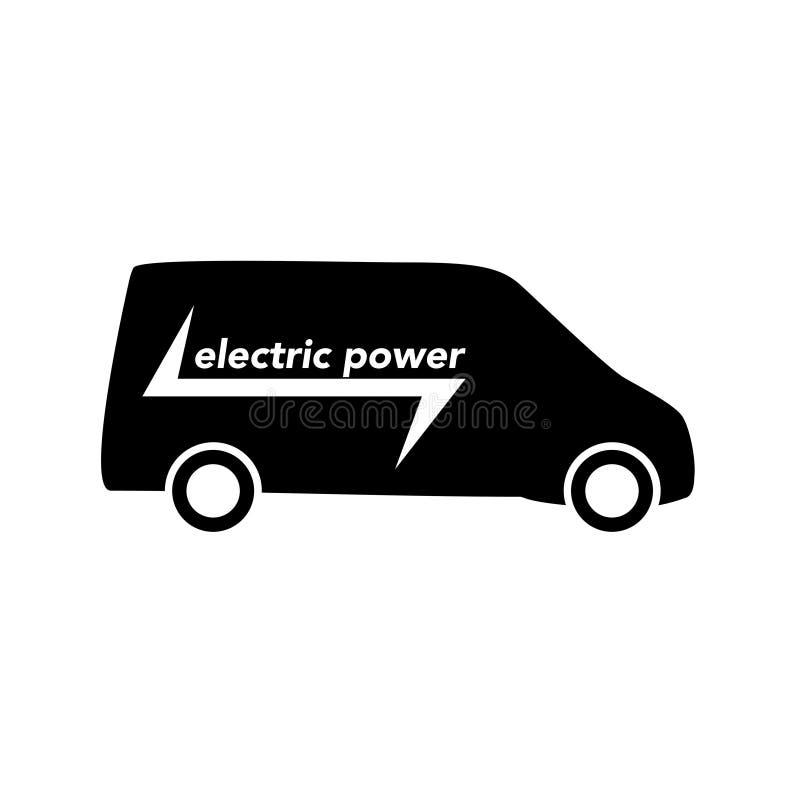Elektrycznej eco pojazdu ikony tła biały wektor zdjęcie stock