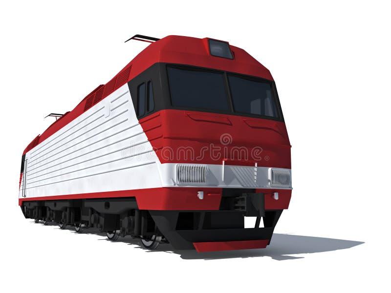 elektrycznej lokomotywy nowożytny perspektywiczny widok royalty ilustracja