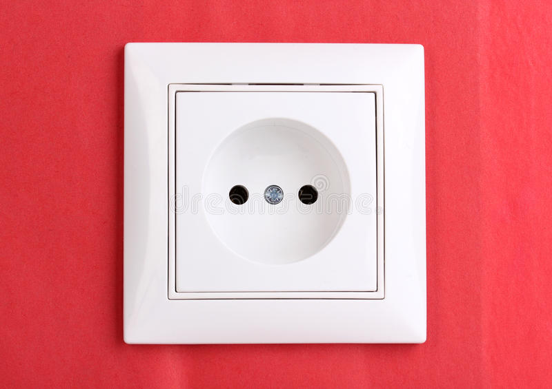 elektrycznej nasadki biel fotografia stock