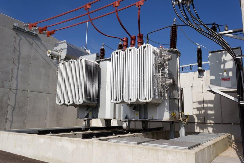 Elektrycznej władzy transformator obraz stock