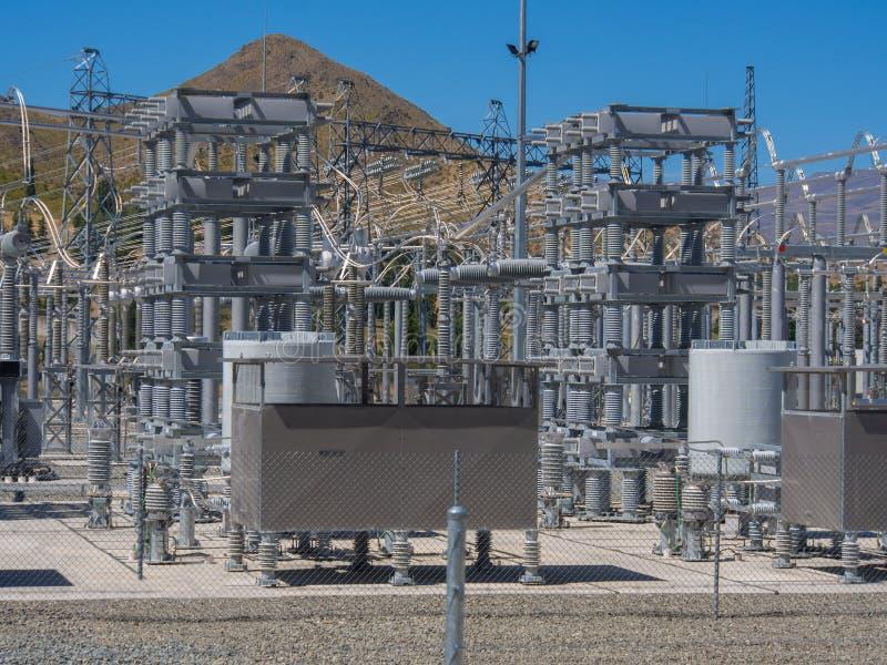 Elektrycznej władzy transformatory zdjęcia stock