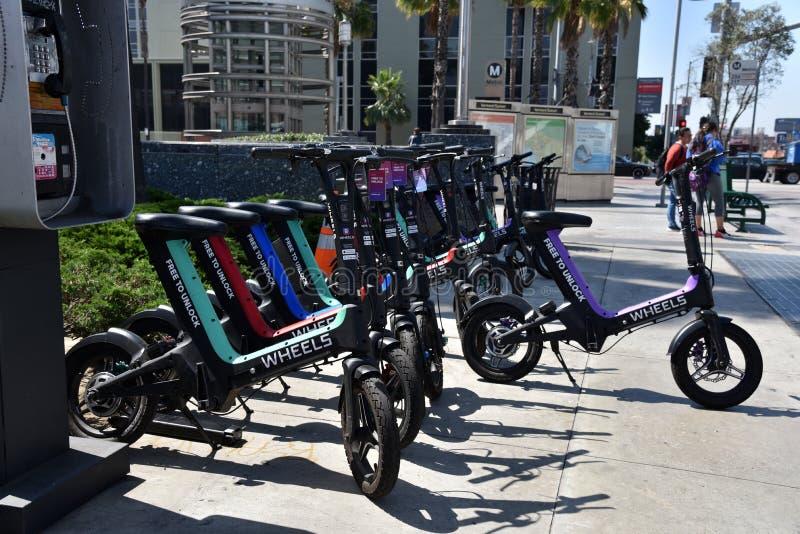 Elektryczni bicykle w mieście obraz royalty free