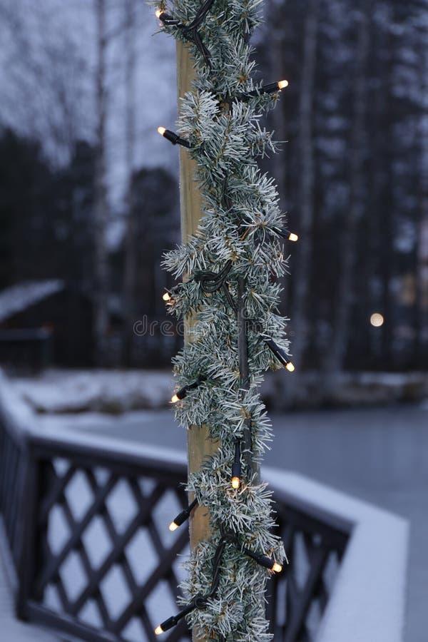 Elektryczni bożonarodzeniowe światła zdjęcie royalty free