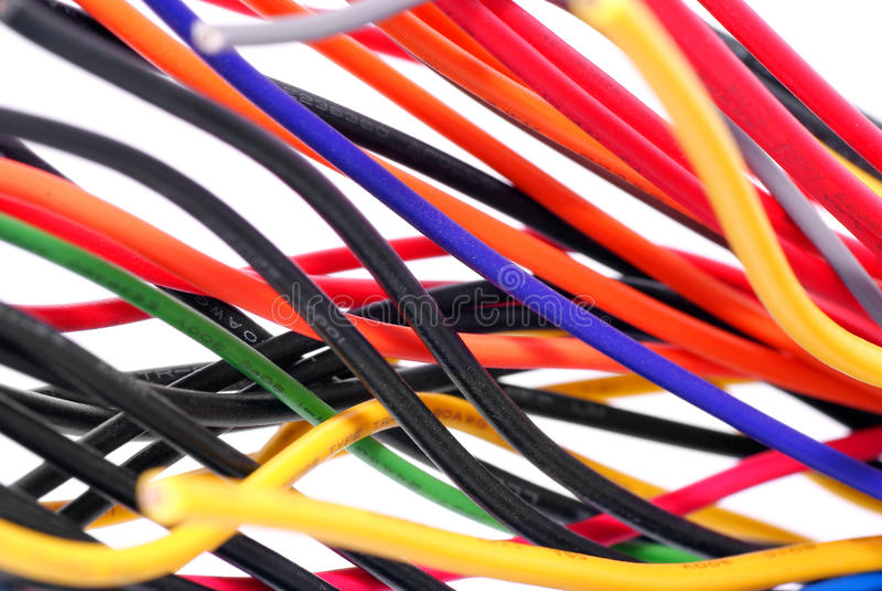 elektryczni druty obrazy stock