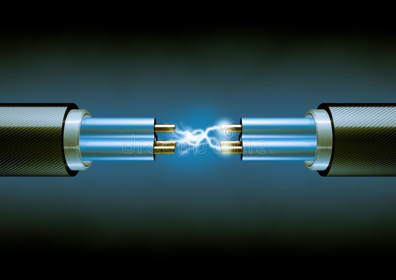Elektryczni kable ilustracji