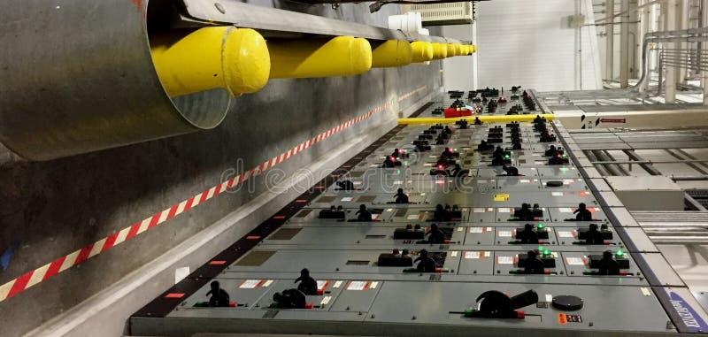 Elektryczni panel obraz stock