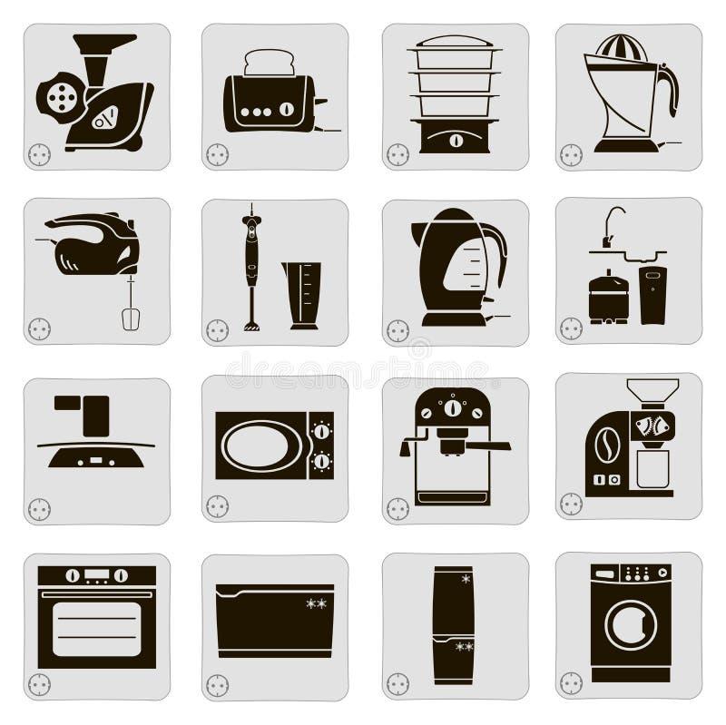 Elektryczni przyrząda w kuchni royalty ilustracja