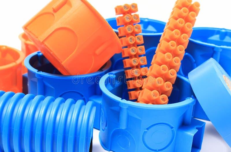 Elektryczni składniki dla use w elektrycznych instalacjach zdjęcie royalty free