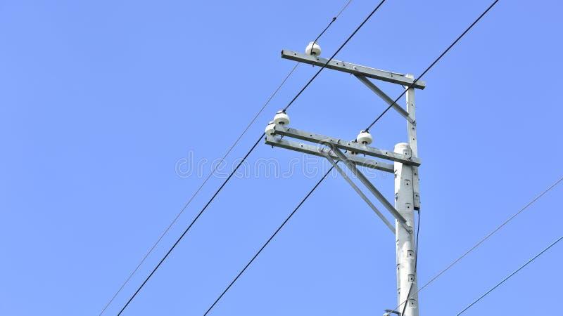 Elektryczność betonowy słup obraz stock