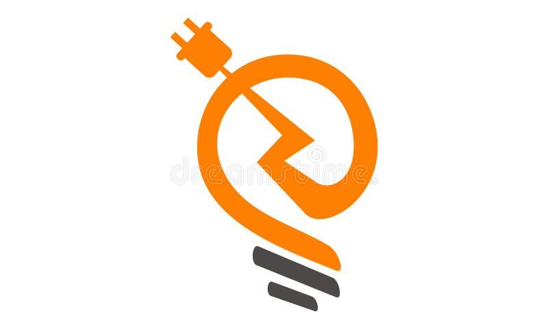 Elektryczność logo ilustracji