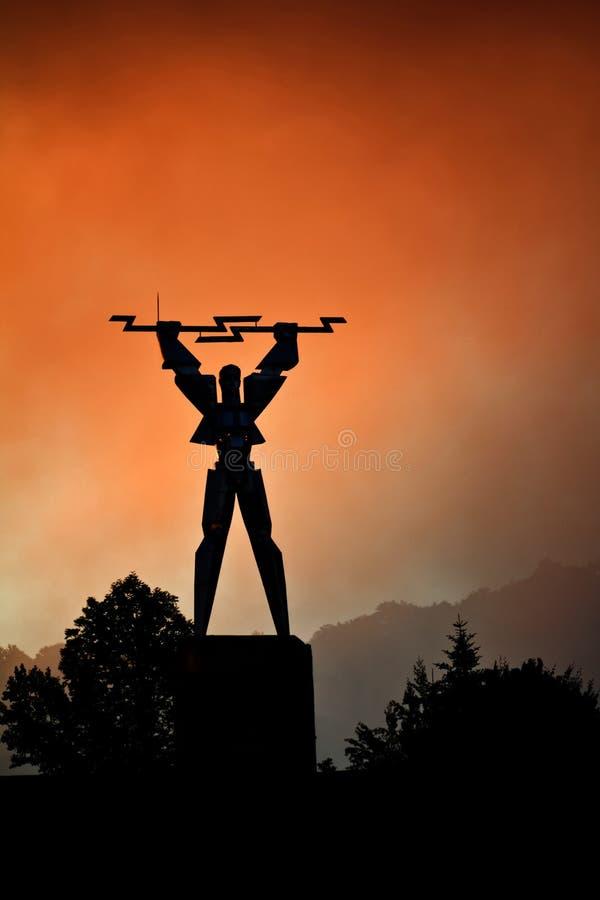 Elektryczność mężczyzna zdjęcie royalty free