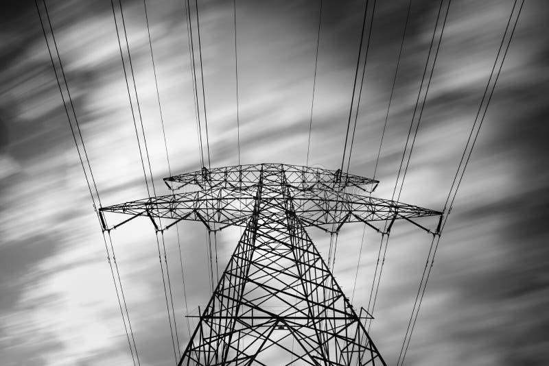 Elektryczność pilonu wierza szczegóły, źródło energii zdjęcia stock