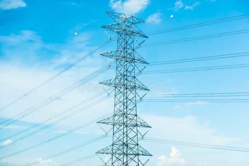 Elektryczność słup obraz stock