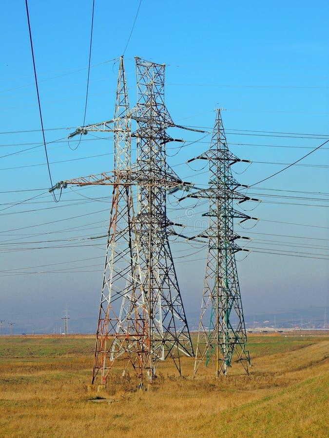 Elektryczność słupy obrazy stock