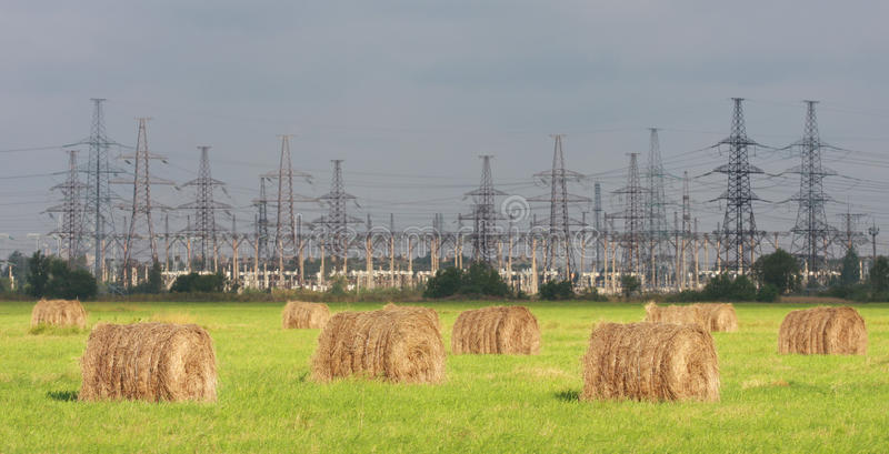 elektryczności elektrownia obraz stock