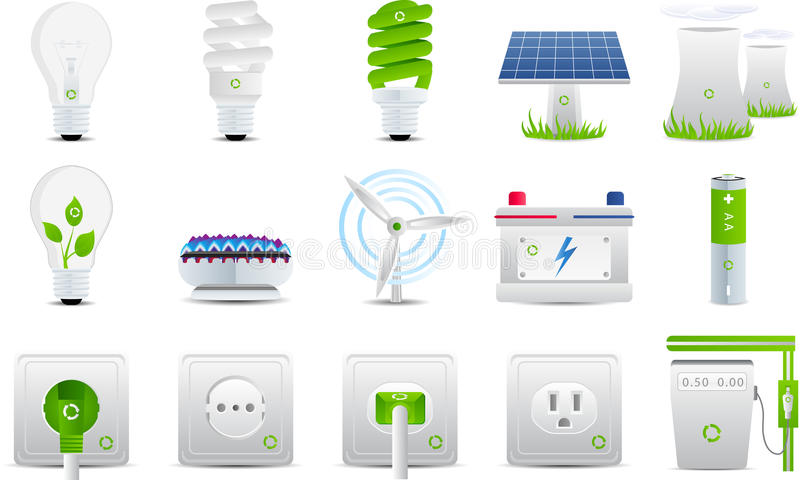elektryczności energii ikony ilustracji