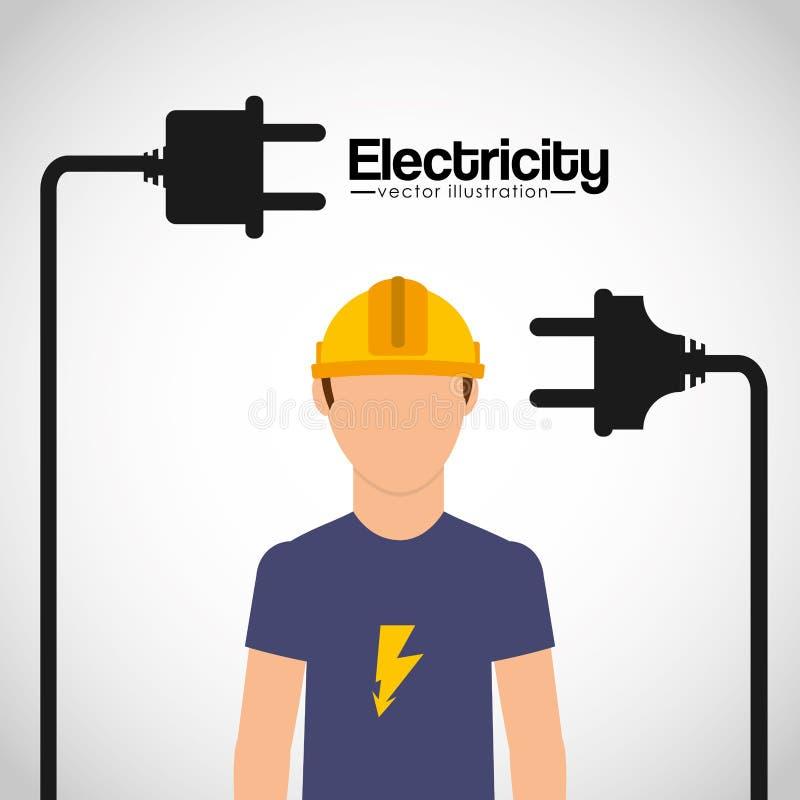 Elektryczności pojęcia projekt ilustracji