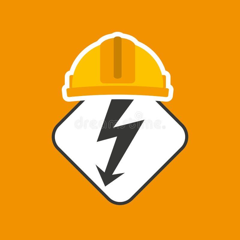 elektryczności władzy ikona ilustracji