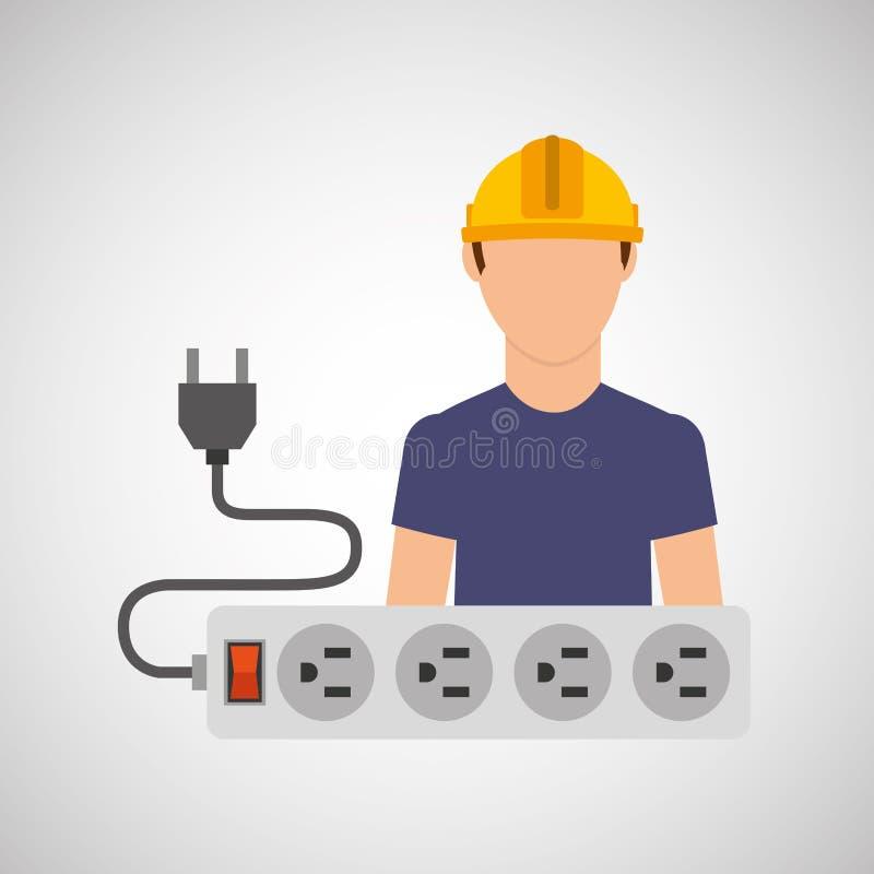 elektryczności władzy ikona ilustracja wektor