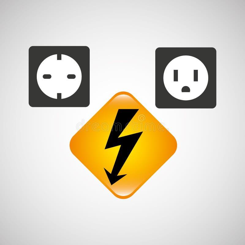 elektryczności władzy ikona royalty ilustracja