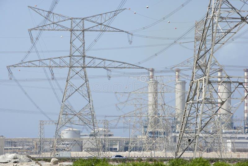 elektryczności władzy pilonów stacja obrazy stock