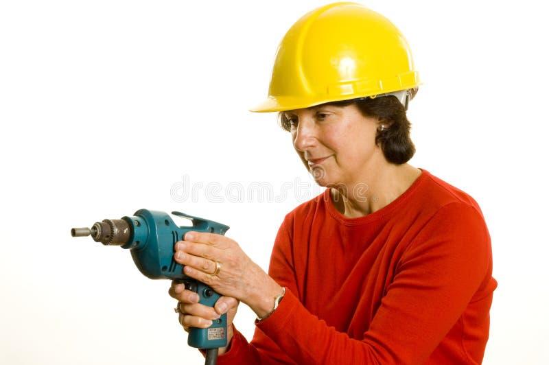 elektryczny świder kobieta fotografia stock