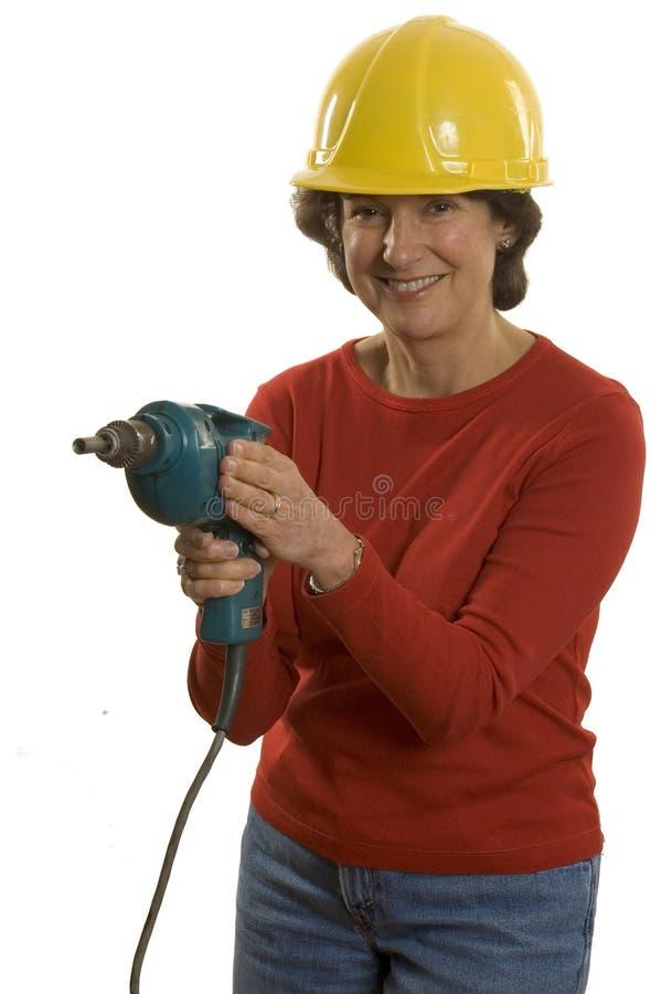elektryczny świder kobieta zdjęcia royalty free