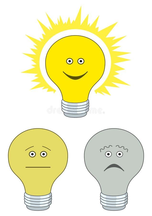 elektryczny żarówka set ilustracja wektor