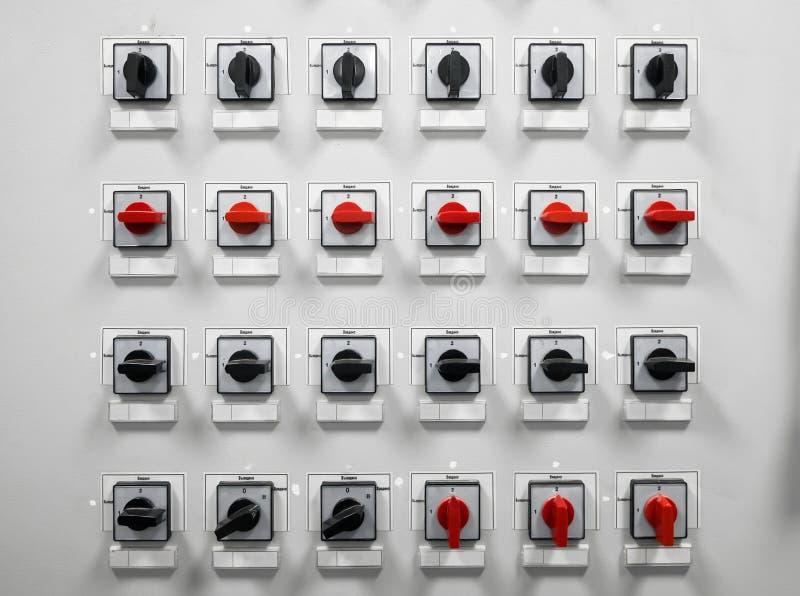 Elektryczny amperage pulpit operatora zdjęcia stock