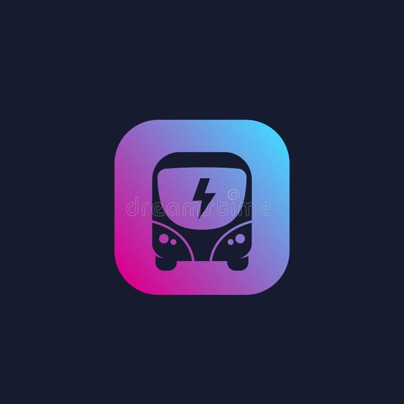 Elektryczny autobus, czysty transport publiczny, wektor ilustracja wektor