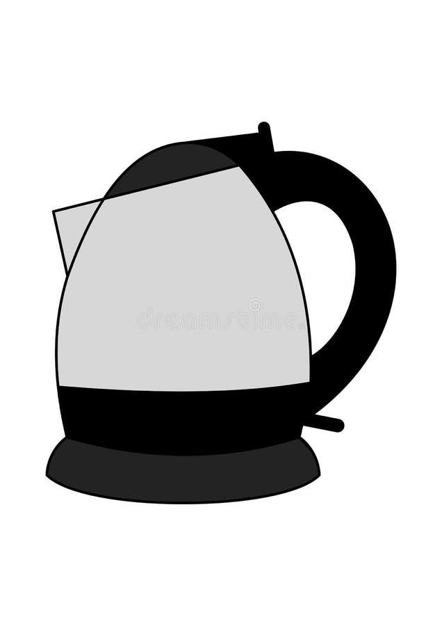 elektryczny czajnik royalty ilustracja
