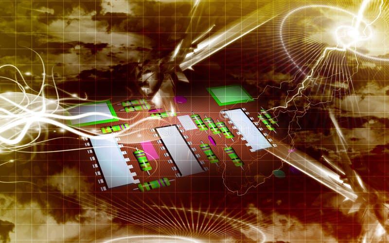 elektryczny deskowy obwód ilustracji