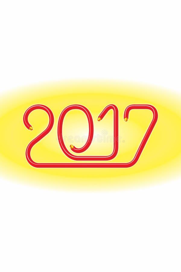 Elektryczny Druciany Szczęśliwy 2017_JAK-3 zdjęcia stock
