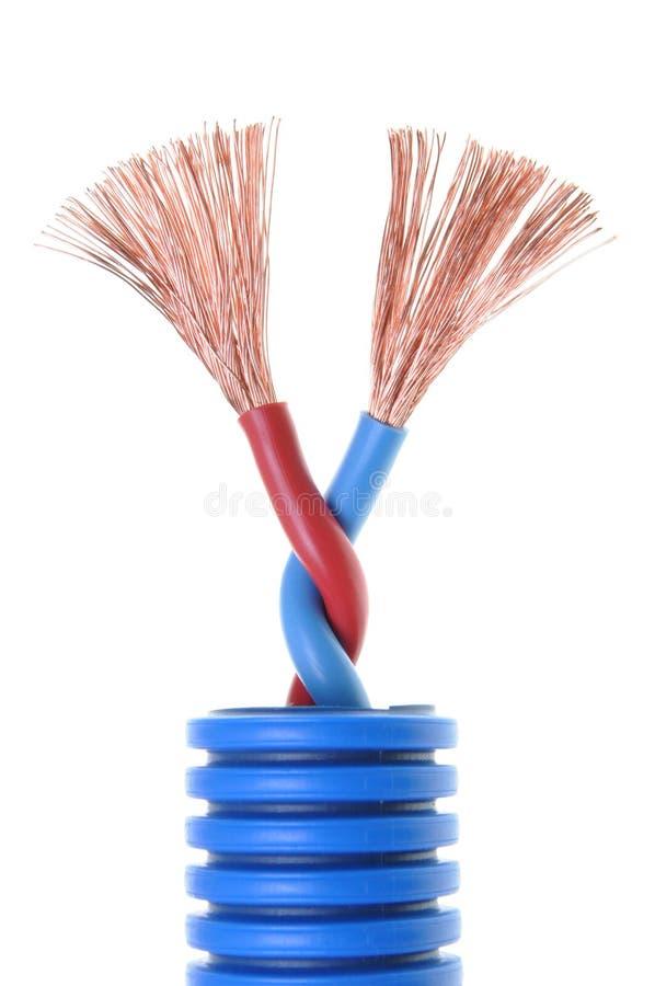 Elektryczny kabel zdjęcia royalty free
