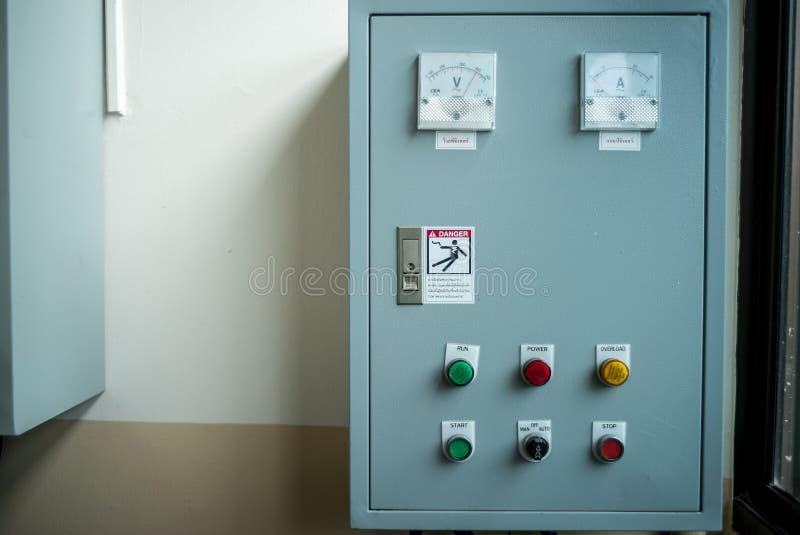 Elektryczny kontrolny pudełko obraz royalty free