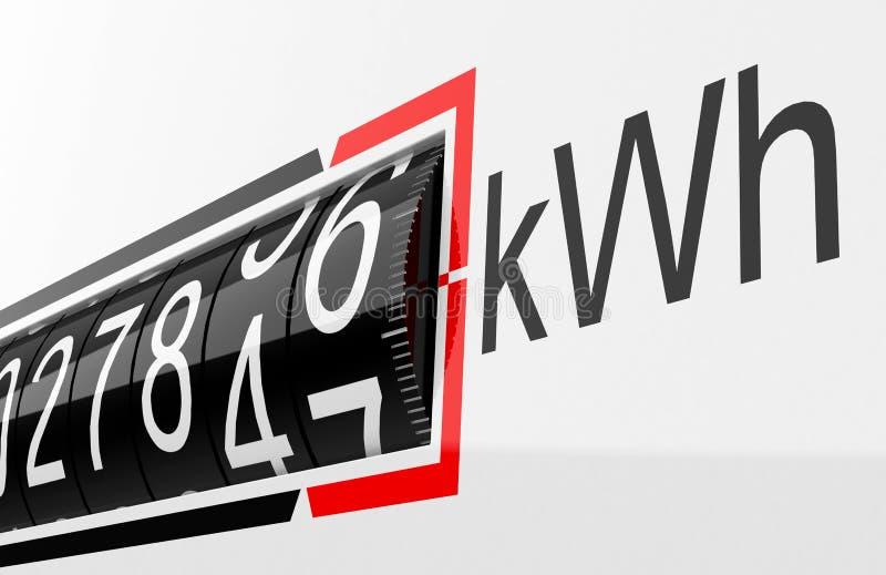 Elektryczny metr ilustracji