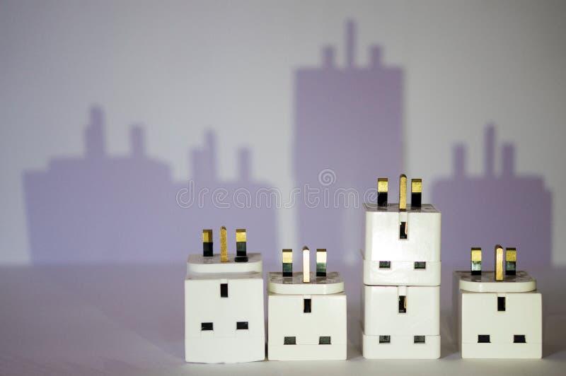Elektryczny miasto obrazy royalty free